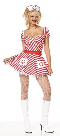 Adult Candy Striper Costume  sc 1 st  Pinterest & 8 best Candy Striper Costumes images on Pinterest | Costume ideas ...