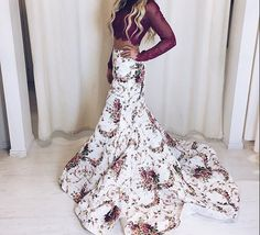 gorgeous two piece floral dress