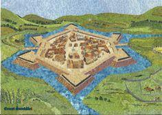Pevnosť Nové Zámky v štýle koláž