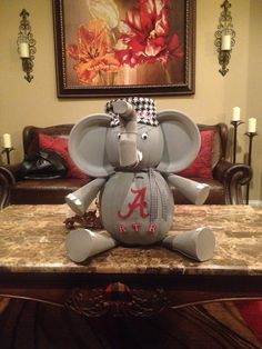 Alabama Crimson Tide Elephant Pumpkin
