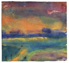 Emil Nolde (1867-1956) De reden waarom hij is weggedrukt in de kunstgeschiedenis ligt in zijn onverbloemde sympathie voor het opkomende nationaal-socialisme. Hij verwierf bewonderaars in de nazi-top en propagandaminister Goebels decoreerde zijn privé-vertrekken met zijn schilderijen. Groot was zijn teleurstelling toen zijn werk in 1934 door Hitler ontaard werd verklaard. Goebels ontdeed zich snel van zijn doeken en de kunstenaar kreeg een schilderverbod opgelegd.
