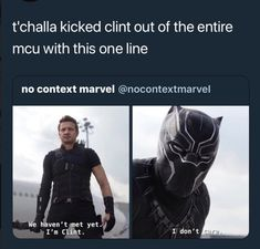 And that's why we didn't see him in infinity war