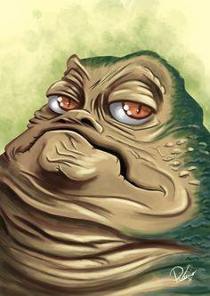 Jabba the Hutt from #starwars - caricature by Ribosio