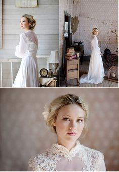 bridal shoot filled to the brim with vintage charm