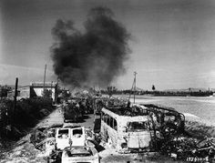 Aftermath of 19th German Army Traffic Jam – Montelimar France, August 1944 -