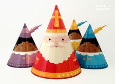 Geweldig !!! Zo uit te printen via Dawanda.nl http://nl.dawanda.com/diy-tutorials/feestdagen-kerst-sinterklaas/diy-papieren-sinterklaas-versiering
