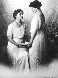 Grand Duchess Olga and Grand Duchess Tatiana, two eldest children of Tsar Nicholas II and Empress Alexandra