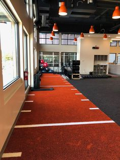 Agility Gym Turf V-Max Colored Artificial Turf with Padding is an ideal turf for gyms, CrossFit, agi Home Gym Basement, Home Gym Garage, Diy Home Gym, Gym Room At Home, Home Gym Decor, Dream Gym, Indoor Gym, Indoor Outdoor, Gym Interior
