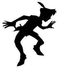 Image result for silhouette peter pan