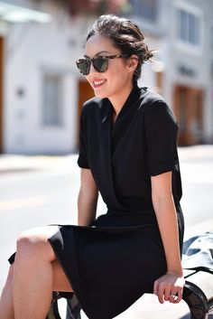 Simple black summer dress