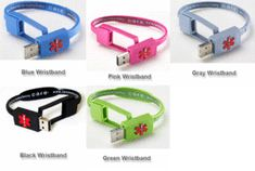 Medical bracelet USB with your health info on it (would be bad if wrong person got ahold of it tho?)