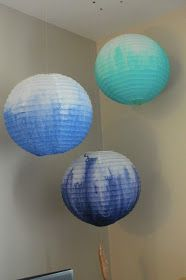 Positive Ponderings: Ombre Paper Lanterns DIY