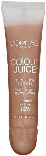 L'Oreal Paris Colour Juice Sheer Juicy Lip Gloss, Caramel Cr�me, 0.5-Fluid Ounce (bestseller)