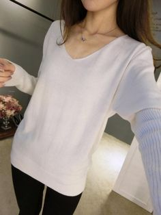 New Fashion Women Pullover Sweater Lady V-neck S-4XL Batwing Sleeve Cashmere Wool Knitted Solid Color Wear Loose Size 4XL