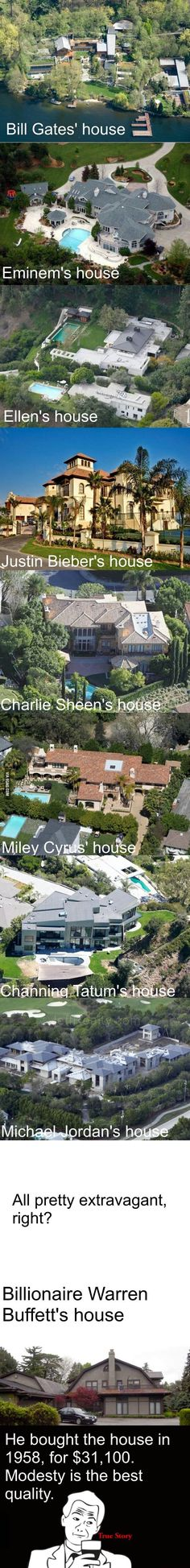 Warren Buffet's House, we can all learn from him.
