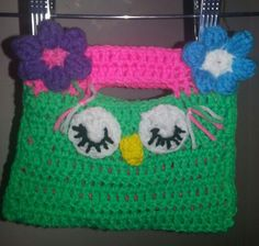 Crochet girls purse by me....my hobby