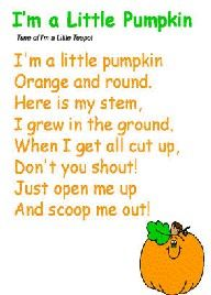 Oh so cute! Gotta teach the kids this one. I'm a Little Pumpkin Song