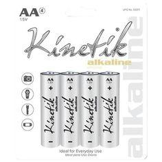 KINETIK 53317 Alkaline Batteries (AA, Carded, 4 pk) - UBC53317