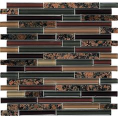 Shop EPOCH Architectural Surfaces 5-Pack 12-in x 12-in Riverz Brown Glass Wall Tile at Lowes.com