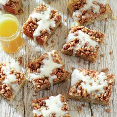 Very Merry Breakfast Muffins & Breads: Bananas Foster Coffee Cake with Vanilla-Rum Sauce