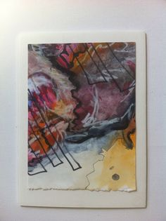Watercolor oil pastel and ink $15.00