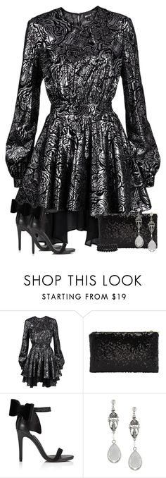 """""""Metallic, Sequins, & Bows"""" by majezy ❤ liked on Polyvore featuring Just Cavalli, Miss Selfridge, Givenchy and Bling Jewelry"""