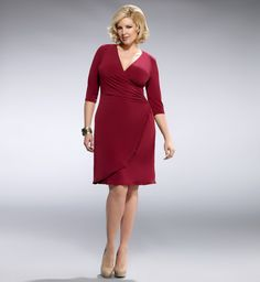 Wrap yourself up in style with one of these plus size wrap dresses from Kiyonna. Create a flattering silhouette that's easy on the eyes with a curve-skimming wrap dress today. Plus Size Cocktail Dresses, Plus Size Dresses, Plus Size Outfits, Dresses For Work, Big Girl Fashion, Curvy Fashion, Plus Size Fashion, Popular Dresses, Designer Dresses
