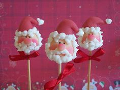 Father Christmas cake pops