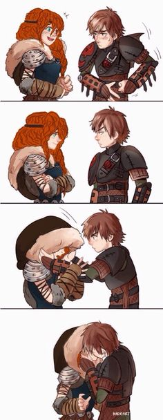 Merida and Hiccup.