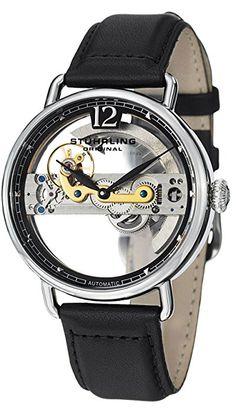 Stuhrling Original 465.33151 - Reloj de pulsera hombre, piel, color negro: Amazon.es: Relojes