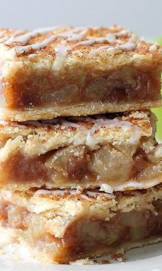 Make your best-ever homemade apple desserts this fall. These yummy apple recipes range from homemade apple pie to apple donuts, apple cupcakes and more. Baking Recipes, Cookie Recipes, Dessert Recipes, Apple Pie Bars, Apple Pie Muffins, Apple Slab Pie, Apple Pie Cookies, Fall Recipes, Sweet Recipes