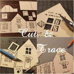 mini cardboard house template