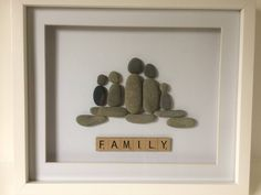 Pebble Art - Family of Five by PebbleCraftWestWales on Etsy