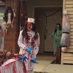 Haunted yard display Halloween day                                                                                                                                                     More