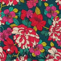 Copeland Magenta Teal ~ Liberty Lifestyle Bloomsbury Gardens. For the curtain above the sink?