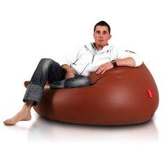 Relax XL babzsákfotel - barna Bean Bag Chair, Relax, Furniture, Home Decor, Vertical Gardens, Decoration Home, Room Decor, Beanbag Chair, Home Furnishings
