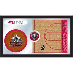 New Mexico Lobos Basketball Court Mirror Wall Art