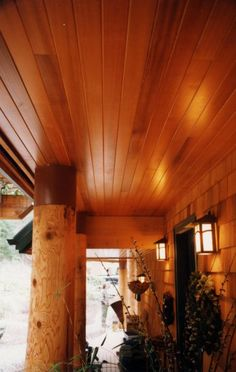 siding on porch ceiling