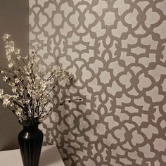 We love this pattern_ ask us where this pattern will work for you?  Zamira Allover by Cutting Edge Stencils