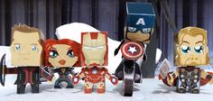 PAPERMAU: The Avengers - Age Of Ultron - The Avengers Paper Toys - by Enrique Acevedo