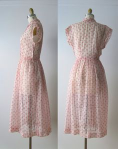 vintage 1950s dress / 50s dress / Among the Fireweed by Dronning
