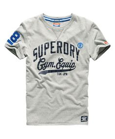 Mens - Pommel Tok Jpn T-shirt in Tunic Grey Marl | Superdry