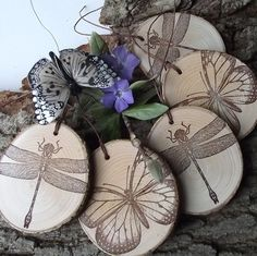 These wooden gift tags have a wonderful rustic appeal and are handmade from a reclaimed tree branch of a down tree. The wood has been sanded smooth and left natural.These tags are a perfect embellishment for gift bags and boxes, baked goods, and more.