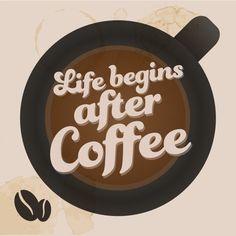 La vita comincia dopo il caffè! ;) #goodmorning #coffee #breakfast #macchiato #lungo #ristretto #cappuccino #moccaccino