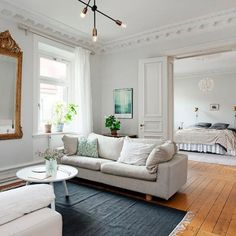 A beautiful one bedroom apartment that perfectly blends classic and modern touches.
