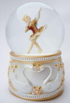 Bola de nieve musical bailarina granate
