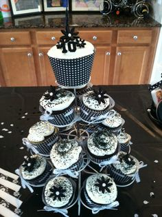 Olivia's 10th- black and white party