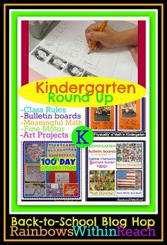 Kindergarten Round-UP: all things K! Kindergarten Bulletin Boards, Kindergarten Classroom Management, Kindergarten Projects, Classroom Organization, Classroom Ideas, Kindergarten Orientation, Teacher Blogs, Teacher Resources, Teaching Ideas