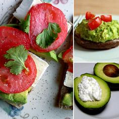 Avocado Snack Ideas - Guacamole Portobello MushroomI had to have homemade guacamole on hand, but instead of pairing it with high calorie and high sodium tortilla chips, place a few dollops on top of a sautéed portobello mushroom.