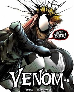 """#EddieBrock returns as #Venom in issue 6! Written by Mike Costa with art by Gerardo Sandoval this issue will precede the giant-sized anniversary issue Venom 150! That book will answer the question we (at least those of us who are fans of the current Venom series) have all been wondering - How did the #symbiote and Flash Thompson get separated?? With so many Venom hosts in one book - from the current criminal Lee Price to Mac """"The Scorpion"""" Gargan something tells me we can look forward to a…"""